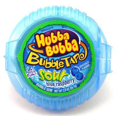 HUBBA BUBBA BUBBLE GUM TAPE SOUR BLUE RASPBERRY