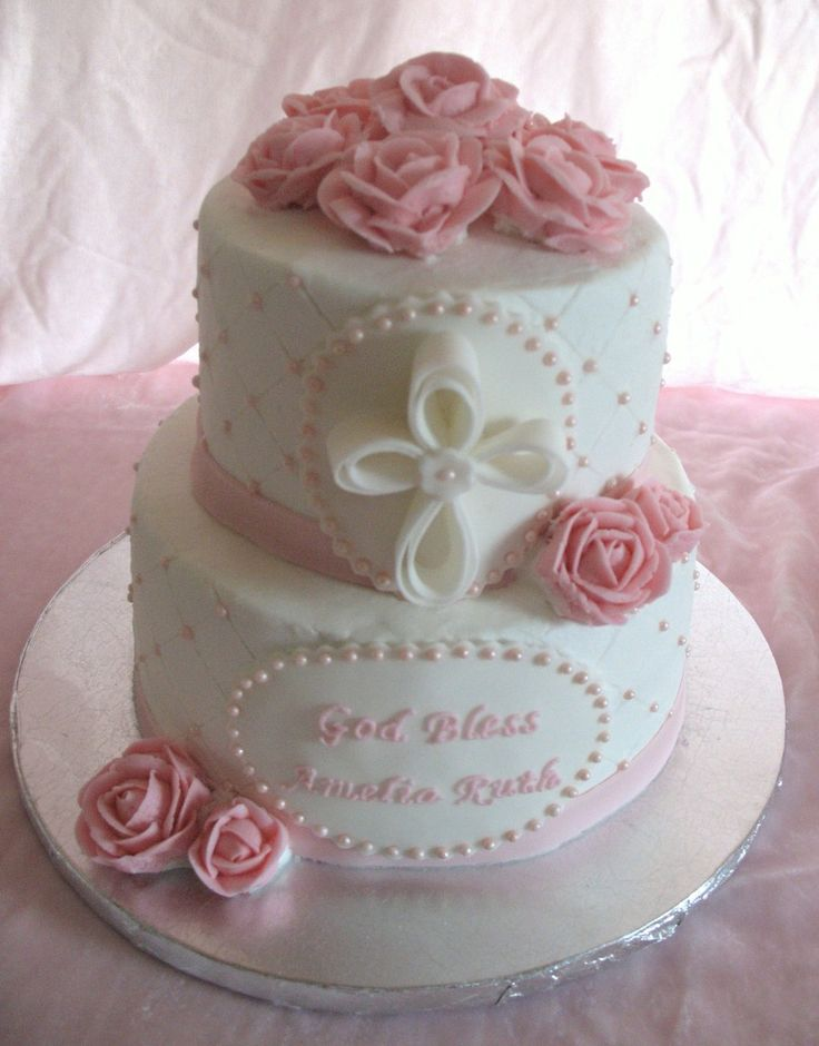 Baptism Cake For Baby Girl on Cake Central