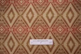 Southwestern Woven Olefin Outdoor Fabric in Brick