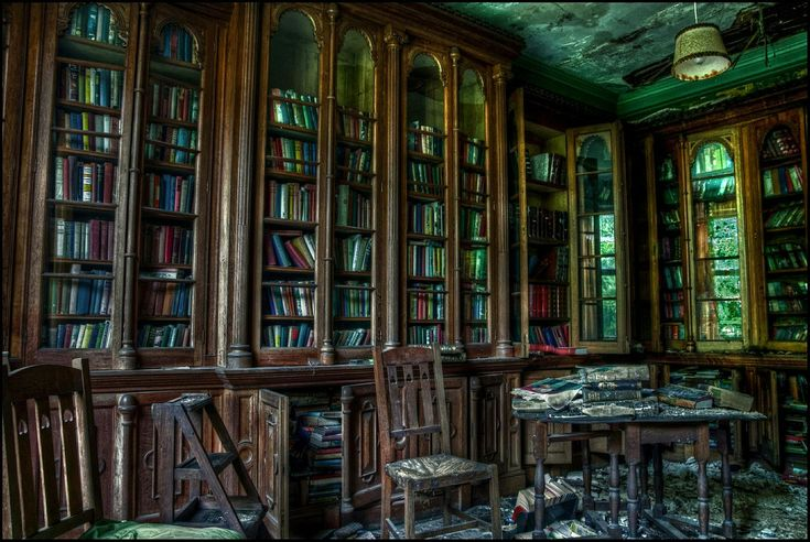 Abandoned library…
