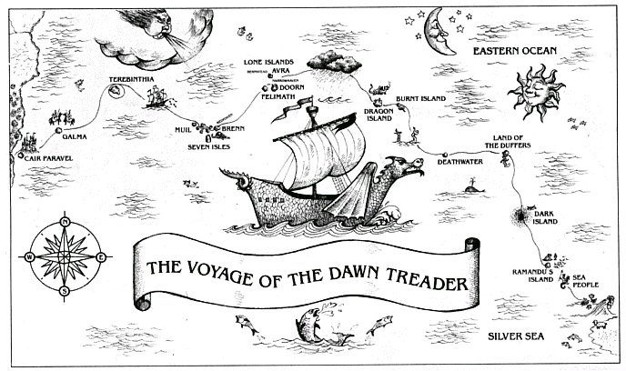 dawn treader route | C. S. Lewis in 2018 | Pinterest | Narnia ...