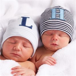 Mud Pie | Blue Initial Newborn Hats | Baby | Boy Fashion