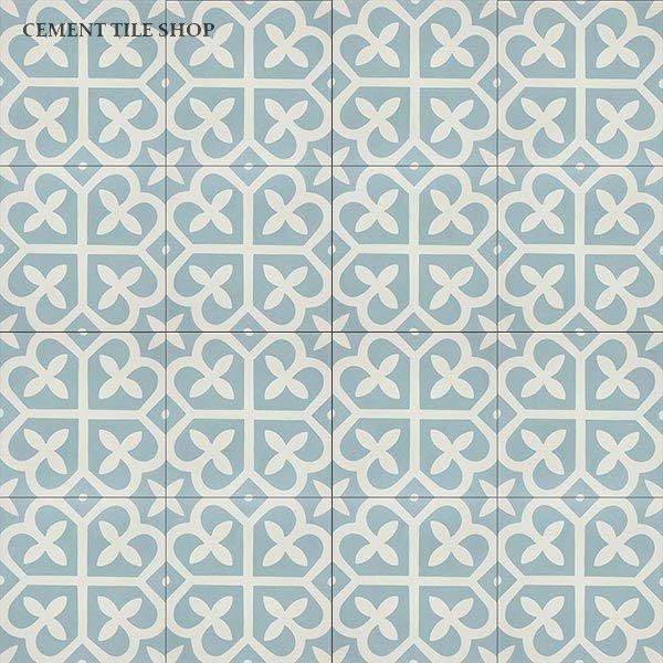 """Cement Tile Shop - Encaustic Cement Tile Mahlia II. $6.90 for 8""""x8"""" piece"""