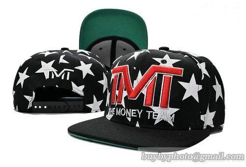 TMT--The Money Team Snapback Hat Caps Black/White Star 170
