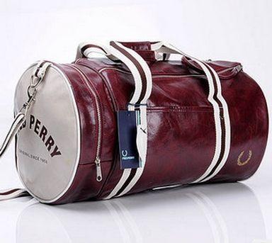 Men's barrel bag shoulder oblique cross PU messenger bag for man fashionable cylinder sports bag free shipping $37.57