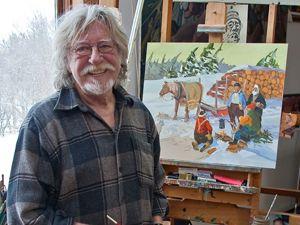 Tex Lecor, artiste, peintre québécois
