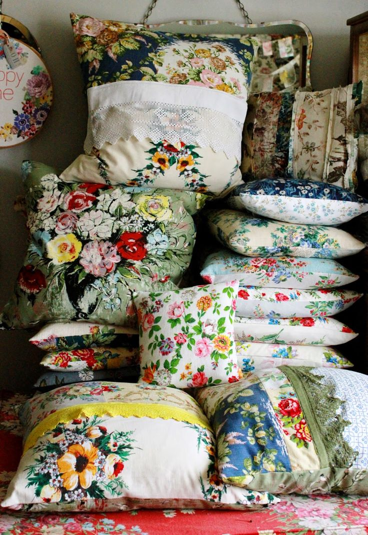 Bring the garden indoors. Mix and match floral fabrics.