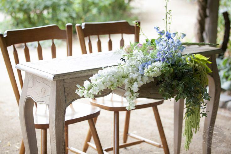 Signing table   Rustic garden themed wedding   Alowyn Gardens, Yarra Glen   Concepts & Styling by One Wedding Wish