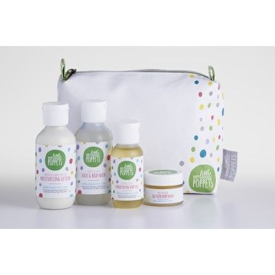 Happy Little Poppets 'Mother's Little Helper' Gift Pack. Four great products in a handy toilet bag. Great for a new little poppet or an older one who loves pampering. NZ Made  See more at www.entirelynz.co.nz/skincare