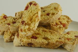 Delicious Home-Made Turkish Delight Biscotti goes into the Eco tin. Eco tin has hand embellished 3 Heart detail