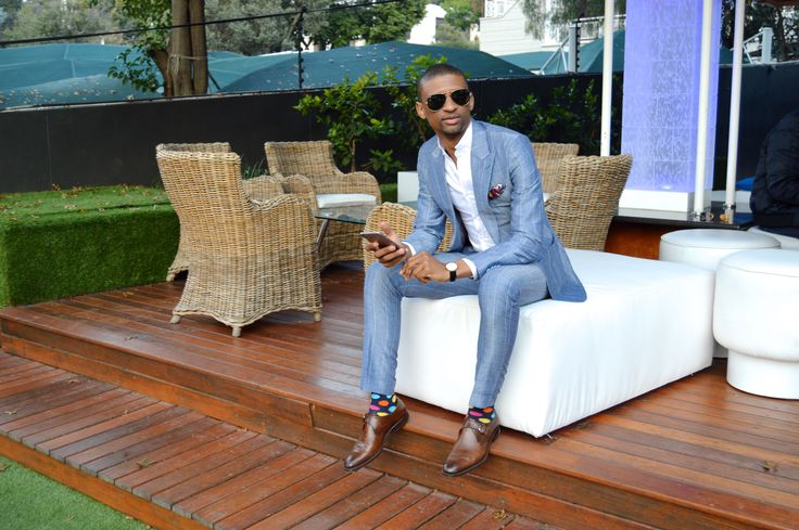 LM TAILORED SUIT worn by LINDA MAKHANYA