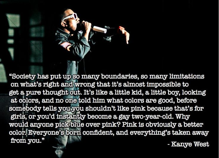 Yo, I'mma Let You Finish, But Kanye West Has The Best Quote About Pink vs. Blue Of All Time