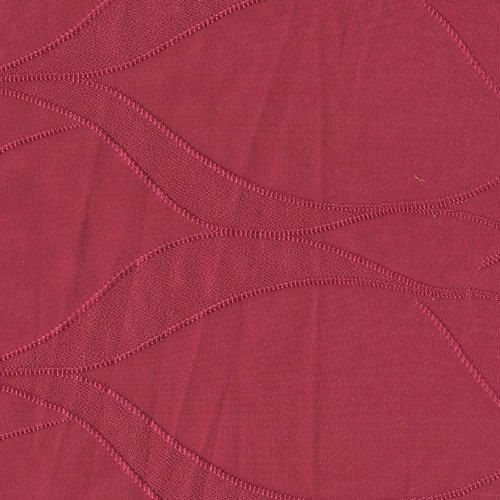 Bright Pink Wave Geometric Embroidered Lycra ITY Knit, 1 Yard