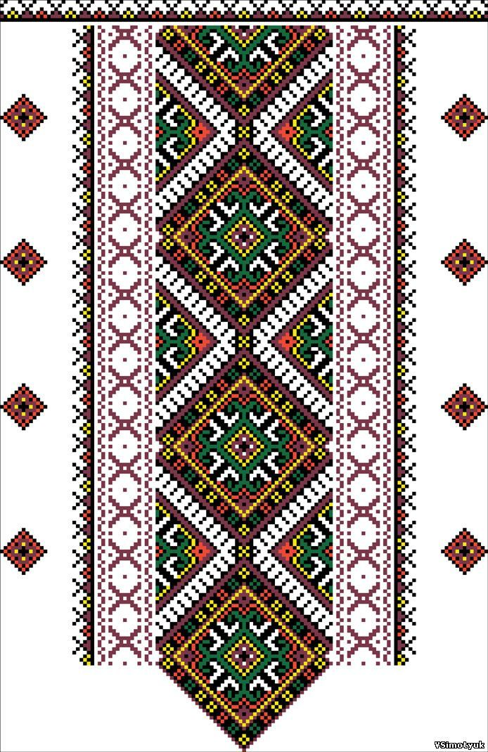 cross stitching ukrainian embroidery
