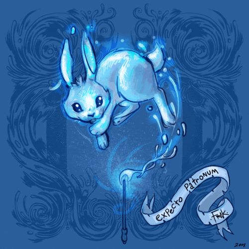 """Luna's Patronus--maybe with the quote, """"Don't Worry.  You're just as sane as I am."""""""