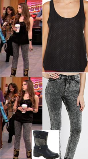 """REQUESTED: Jade West's final outfit in, """"Beck's Big Break."""" Top, Jeans, Boots"""