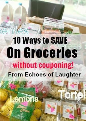 10 Best Ways To Save Money On Groceries Without Couponing - Echoes of Laughter