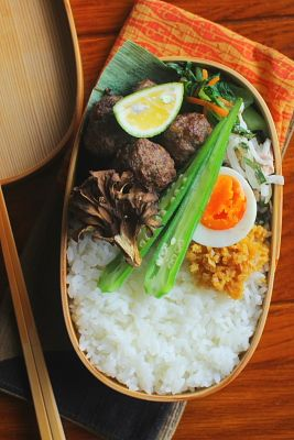 タイ風肉団子弁当 | 日本の片隅で作る、とある日のお弁当