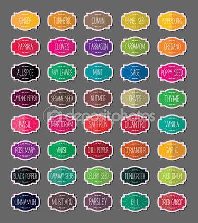 die besten 25 gew rzetiketten ideen auf pinterest gew rz etiketten gew rzgl ser und kreide. Black Bedroom Furniture Sets. Home Design Ideas