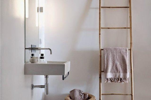 Bamboe ladder badkamer het beste van huis ontwerp inspiratie - Goedkope badkamer decoratie ...