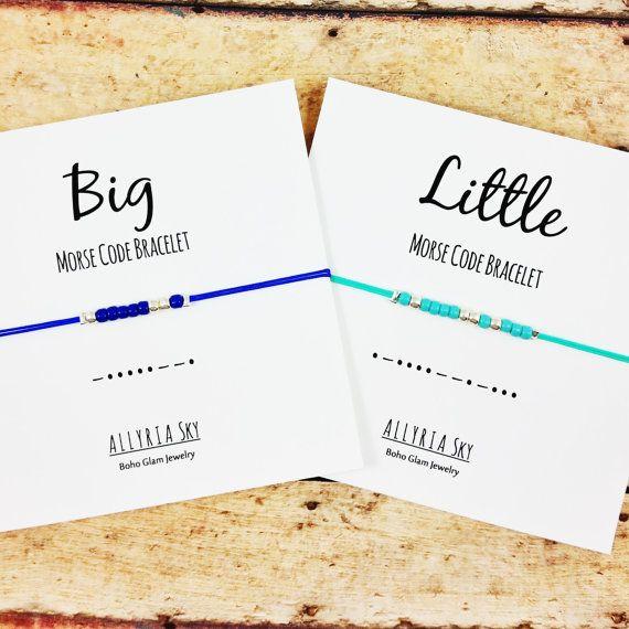 Big Little Sorority Sister Morse Code Bracelets by AllyriaSky