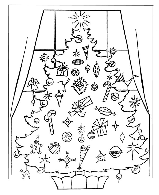 13 best Printable Christmas Tree Coloring Pages For Kids images on ...