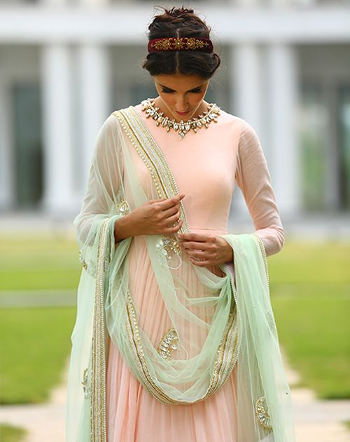 MONSOON WEDDING: a beautifully grounded collection in stunning pastels by HARSHITAA CHATTERJEE DESHPANDE.