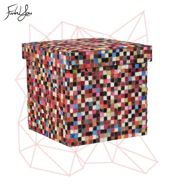 Cubo Ottoman - Multi-Colour. www.funkyou.com.au