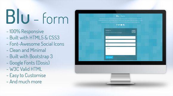 Blu form - HTML Contact Form by ljubomir.milev on Creative Market