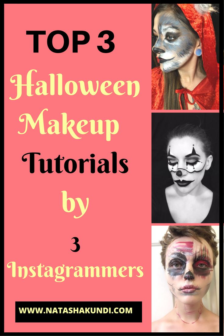 Scary makeup, Halloween 2016 costumes women, halloween 2016 makeup, Halloween ideas costume, halloween makeup scary, halloween makeup pretty, halloween makeup easy, halloween decorations, halloween food, halloween crafts. Halloween 2016 is just around the corner and aren't we all looking for some makeup inspiration?Here is some inspiration and step by step tutorials from 3 great instagrammers. Hope you can recreate theselooks and don't forgetfollow them for more inspiration.