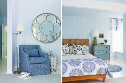 bluePanels Bedrooms, Blue Unknown, Wood Colors, Boudoir, Blue Room, Blue Bedrooms, Master Bedrooms, Colors Together, Calm Blue