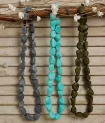 These BPA-free teething/nursing necklaces make you look like Wilma and Betty...fun!