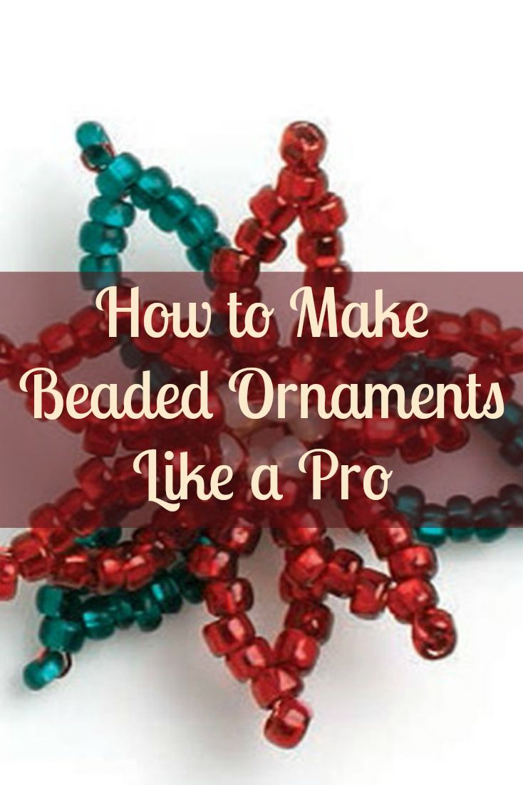 Get a head start on making beaded ornaments this holiday season with these FREE patterns! #beading #christmascrafts #ornaments