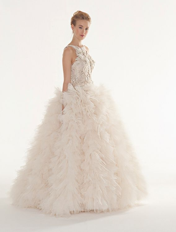 The Latest Collection of Peter Langner Wedding Dresses.  http://www.modwedding.com/2014/02/03/the-latest-collection-of-peter-langner-wedding-dresses/ #wedding #weddings #fashion