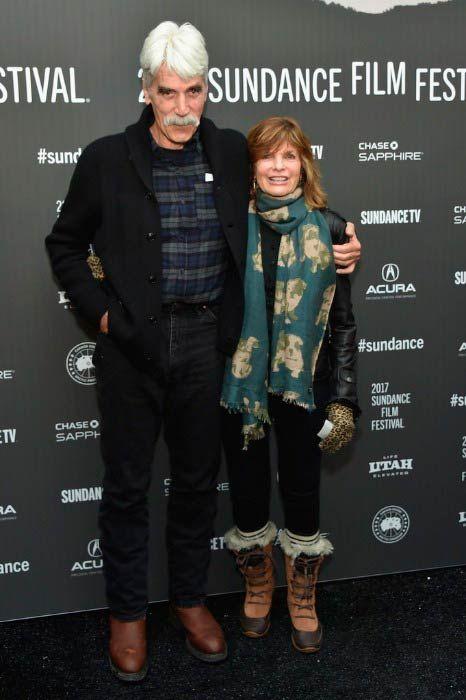 Sam Elliott and Katharine Ross at The Hero premiere at the Sundance Film Festival in January 2017...