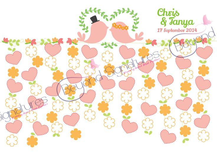 Pastel colours - Love birds beyondsignatures.com