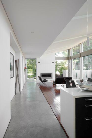 desire to inspire - desiretoinspire.net  concrete and wood floors together