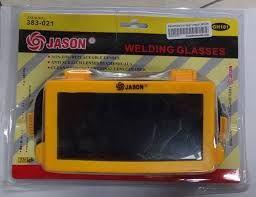 Kode : 80000000505 Nama : Kacamata Las Merk : JASON Tipe : Segi Empat Item no : 383-021 Status : Siap Berat Kirim : 1 Kg Kacamata Las Segi Empat Jason adalah alat pelindung mata produksi Jason yang berfungsi untuk melindungi mata dari sinar api yang berasal dari las dan melindungi mata pada saat menggerinda maupun saat memotong dari sisa-sisa logam hasil dari gerinda.  Alat ini memiliki keunggulan antara lain : - Merk baru dan berkualitas tinggi