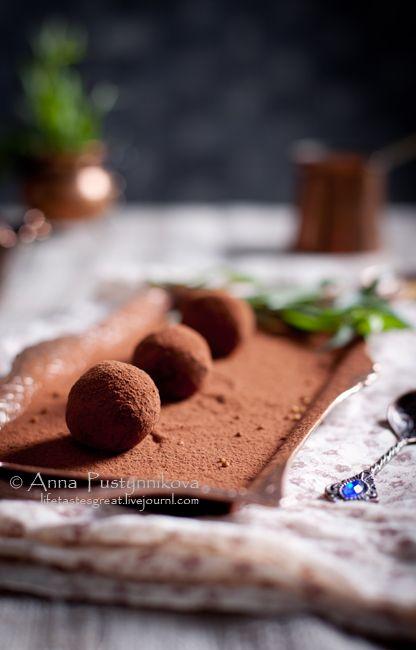 Горячий шоколад и трюфели с эстрагоном и горчицей