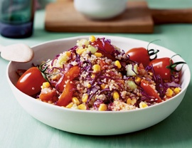 Corn Quinoa Salad: Vegetarian Time, Salad Recipe, Corn Red, Summer Salad, Red Cabbages, Cornquinoa Salad, Maple Syrup, Corn Quinoa Salad, Cabbages Salad