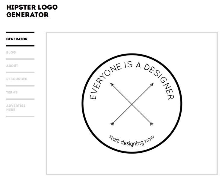 Les 25 meilleures id es de la cat gorie hipster logo for Hipster logo generator