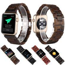 Gezondheid Sandelhout Houten Armband Horloge Band Band Vervanging Wrist Band met Adapter Vlinder Sluiting Voor apple iwatch(China (Mainland))