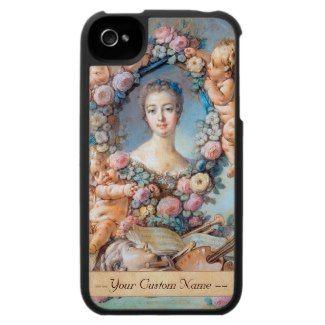 Madame de Pompadour François Boucher rococo lady iPhone 4 Cases #madame #pompadour #pastel #portrait #boucher #Paris #France #classic #art #custom #gift #lady #woman #girl