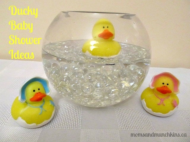 Ducky Baby Shower Ideas - invitations, decorations, activities, food & favors. #BabyShower