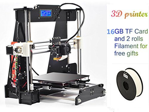 Self-assembly Digital 3D Printer Kit 210*210*240mm and LCD Screen Upgraded Extruder with 2 Rolls Filament 16GB SD card as Gifts DMYY http://www.amazon.co.uk/dp/B01AY1G3RS/ref=cm_sw_r_pi_dp_i767wb1RV24ND
