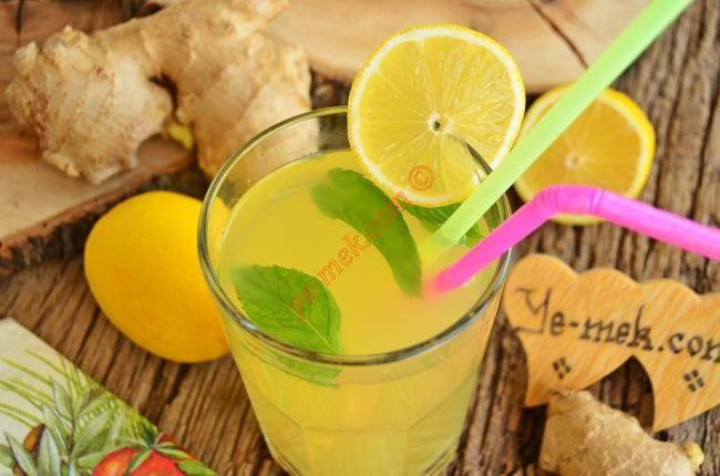 Zencefilli Limonata Tarifi (Resimli Anlatım) | Kolay ve Pratik Resimli Yemek Tarifleri | Göbeğim