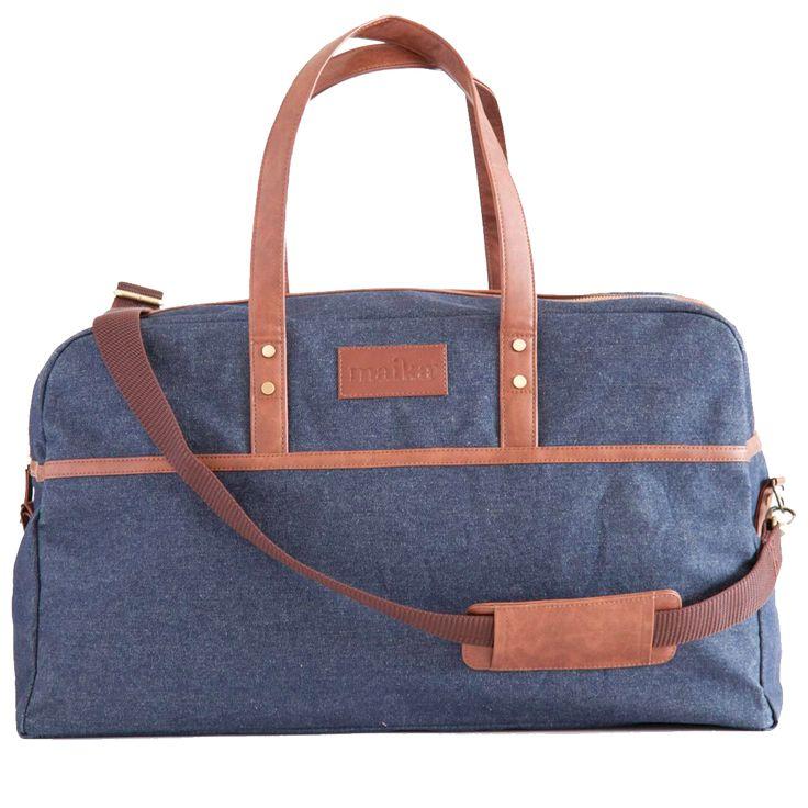 Indigo Denim Duffel Bag
