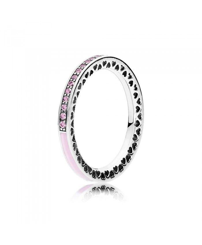 Pandora Pink Radiant Hearts Of Pandora Ring UK