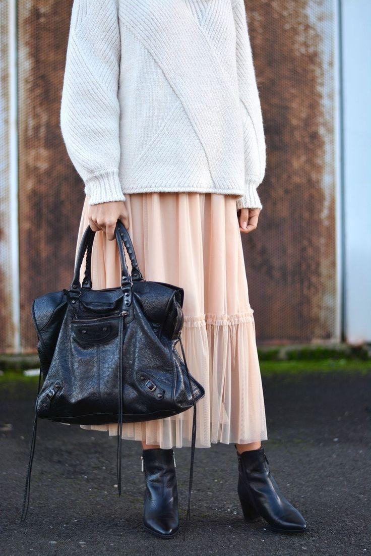 maxi sweater + tulle skirt | stellawantstodie
