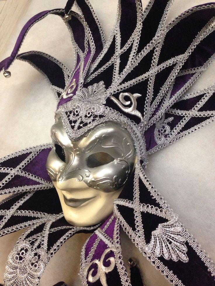 """Купить Венецианская интерьерная маска """"Фиолетовый рыцарь"""" - венецианская маска, венеция, интерьерная композиция"""